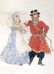 A coachman and a nurse.Costume design