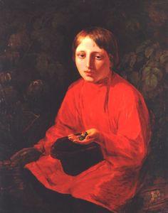 A Boy in a Red Shirt