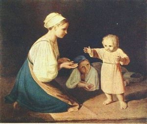 First Steps (Peasant Woman with child)