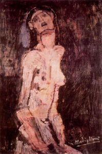 A suffering nude