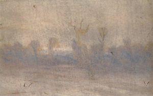 Winter. Fog
