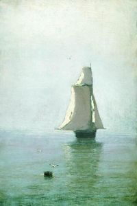 The Sea with a Sailing Ship
