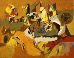 Golden Brown Painting
