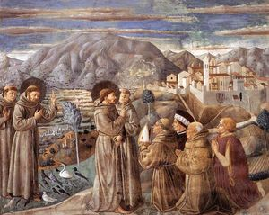 Preaching to the Birds and Blessing Montefalco