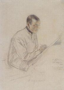 Portrait of D.S. Stelletsky at work