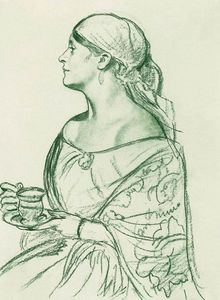 Portrait of L.I. Shetalova (Woman with a cup)