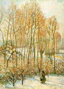Morning Sunlighton the Snow, Eragny-sur-Epte