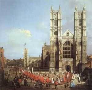 Westminster Abbey, with a Procession of Knights of the Bath