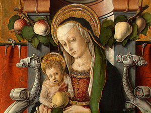 Madonna and Child enthroned with donor
