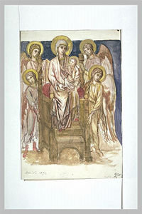 Madonna Enthroned with the Child with Angels