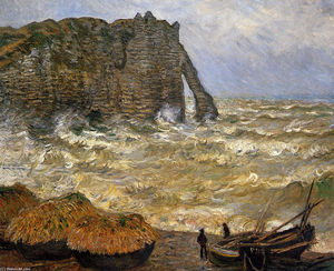 Rough Sea at Etretat