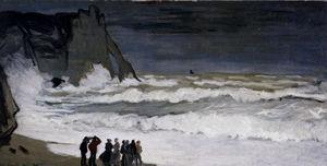 грубо Море  года в  Этрета