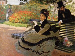 Camille Monet on a Garden Bench