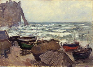 Fishing Boats on the Beach at Etretat