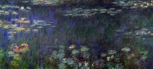 Water Lilies, Green Reflection (left half)