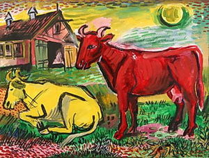 Red and Yellow Cows