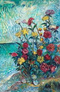 Flowers on the seashore
