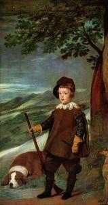 王子巴尔塔萨卡洛斯打扮成猎人