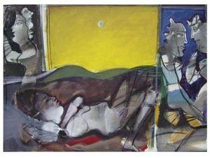 Sleeping Woman under the Moonlight