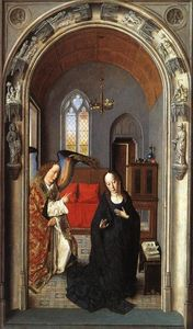 The Annunciation ((Polyptych of the Virgin, the wing)