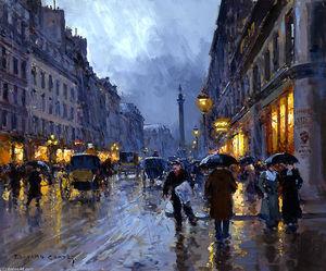 Рута де  Ла  полицейских  дождь