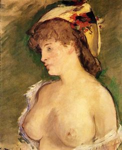 The Blonde with Bare Breasts