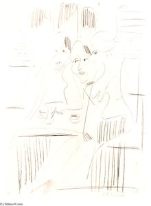 Three Women in a Cafe