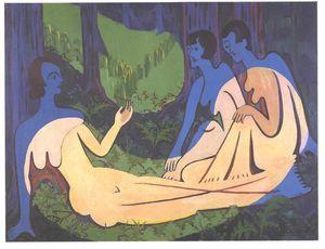 trois nus dans le forêt