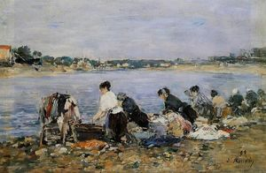 Laundresses on the banks of Touques