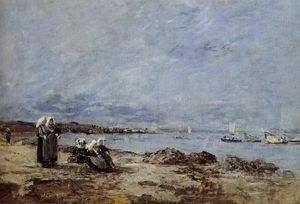 Plougastel, Women Waiting for the Ferry