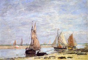 Sailboats near Trouville