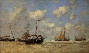 Scheveningen, Boats Aground on the Shore