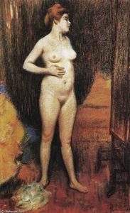 nu femme dans le miroir