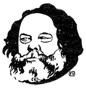 Russian anarchist and philosopher Mikhail Bakunin