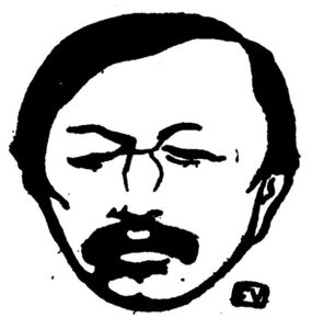 Portrait of French poet Gustave Kahn