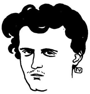 Portrait of French poet le Comte de Lautréamont