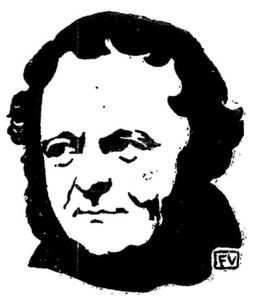 Portrait of French writer Stendhal