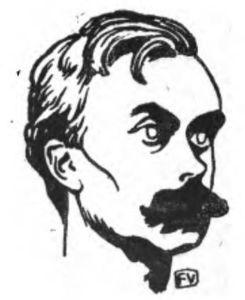 Portrait of French writer Léon Bloy