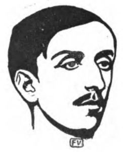 Portrait of French writer Maurice Barrès