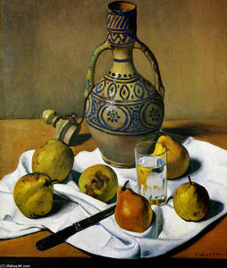 Moroccan jug and pears