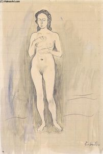 Female Nude (Study for ''Truth'')