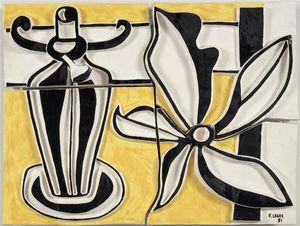 ランプ と  花  ザー  燭台