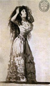 The Duchess of Alba Arranging her Hair