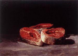 Still Life Three Salmon Steaks
