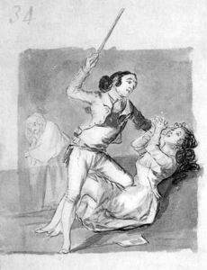 Woman battered with a cane