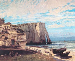 The Cliffs at Etretat after the storm