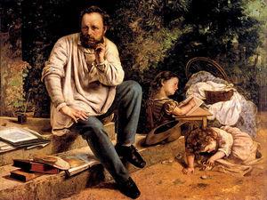 Pierre Joseph Proudhon and his children in 1853