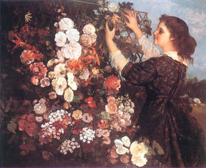 The Trellis (Young Woman Arranging Flowers)