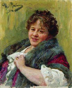Portrait of the writer T.L. Shchepkina-Kupernik
