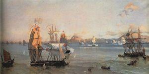 Sea Battle at the Bay of Patrae